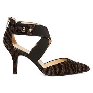 97e31552056 Liz Claiborne Shoes - NWOT Liz Claiborne Keegan Metallic Tiger Pumps 8.5